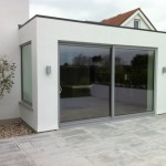 2012 Grey powder coated aluminium installation