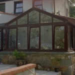Local Mahogany PVCu conservatory installation 1997