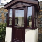 Rosewood effect PVCu porch